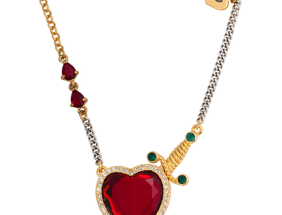 Disney Snow White Heart and Dagger Necklace