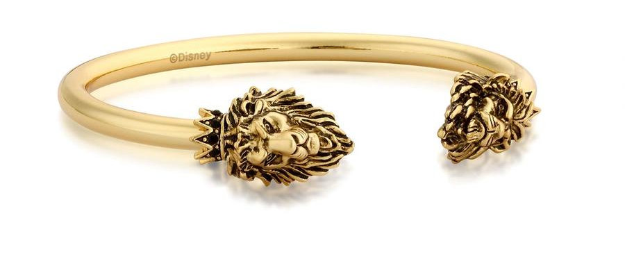 14ct yellow gold plated Disney The Lion King Simba vs Scar bangle