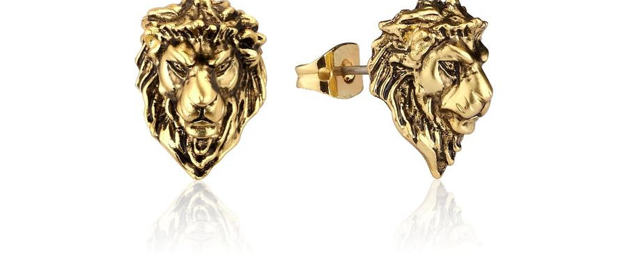 14ct Yellow gold plated Disney The Lion King Simba Stud Earrings
