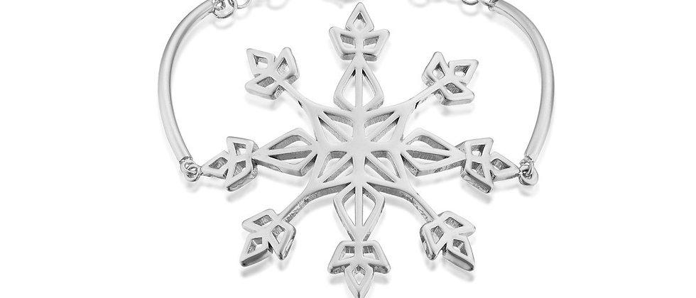 14ct white gold plated Disney Frozen 2 Elsa Snow Flake Bracelet