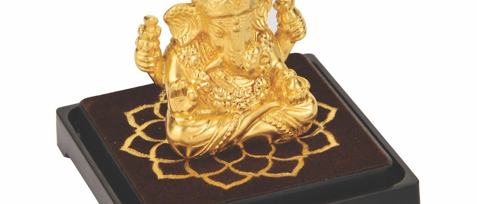Small Gold Foil Idol Ganesha