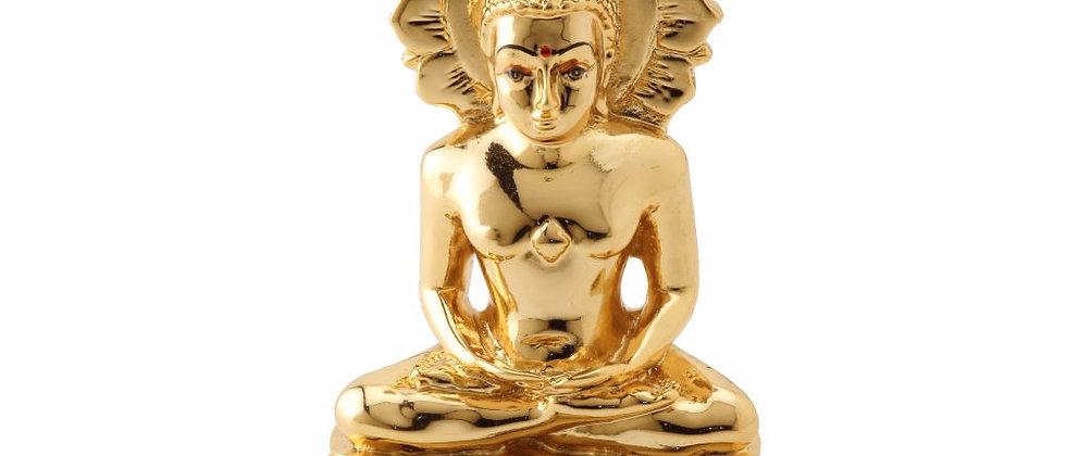 Gold Mahavirji with Chakra