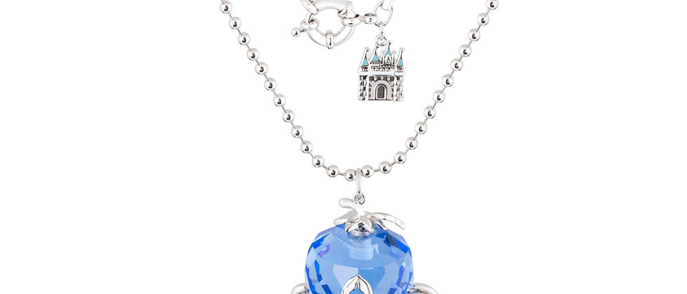 14ct white gold plated Disney Cinderella Pumpkin Carriage Necklace