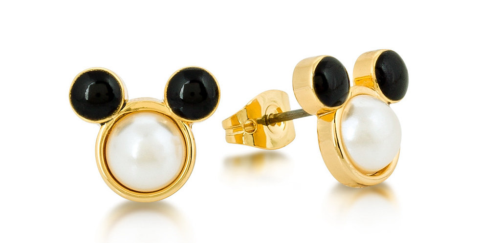 Disney Mickey Mouse Pearl Stud Earrings