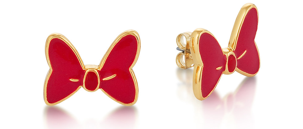 Disney Minnie Mouse Red Bow Earrings