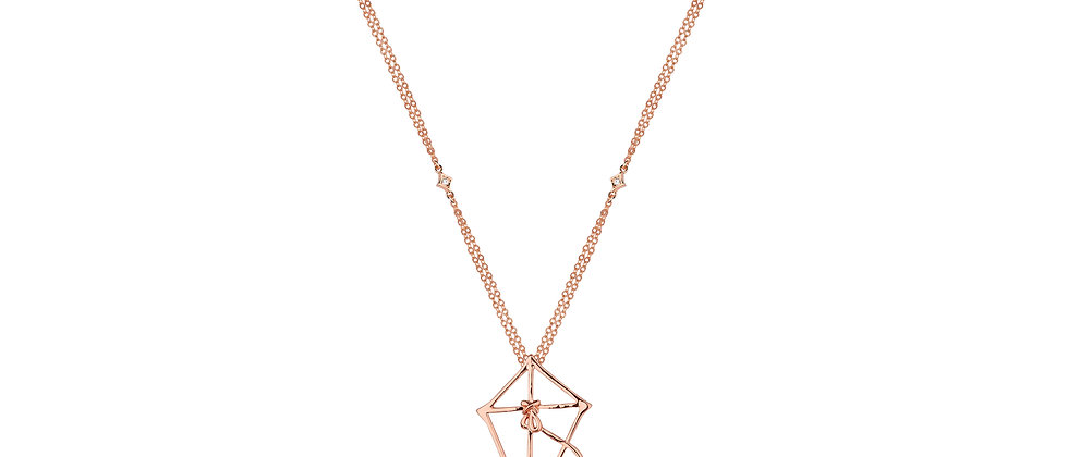14ct gold plated Mary Poppins Kite Necklace - Let's go fly a kite