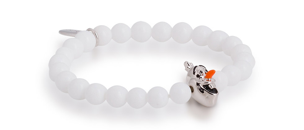 Olaf white beaded bracelet
