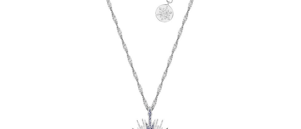 14ct gold plated Disney Frozen 2 Anna Ice Crystal Necklace studded with Swarovski crystals.