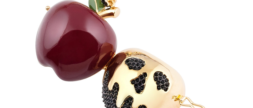 Poison Apple Necklace - 14ct gold plated Disney Snow White necklace