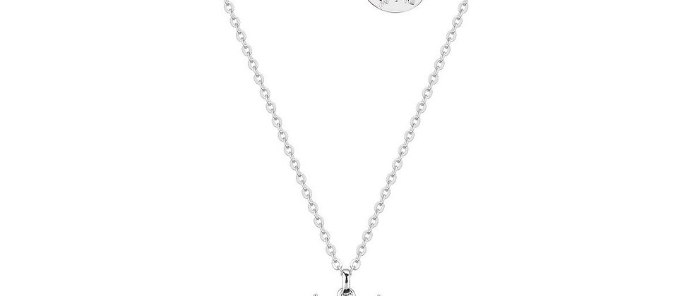 Disney Frozen 2 Olaf and Sven Kids Necklace - 14 ct white gold plated