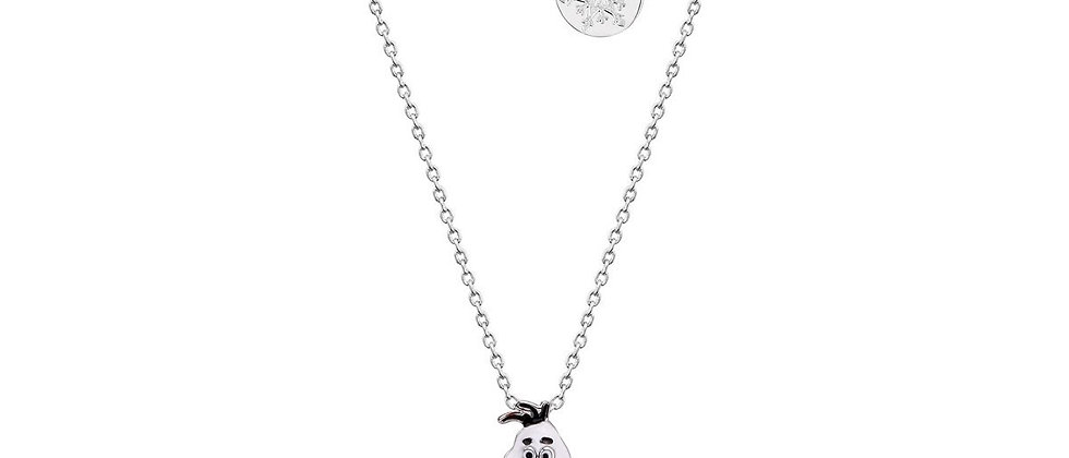 14ct white gold plated Disney Frozen 2 Olaf with movable head necklace