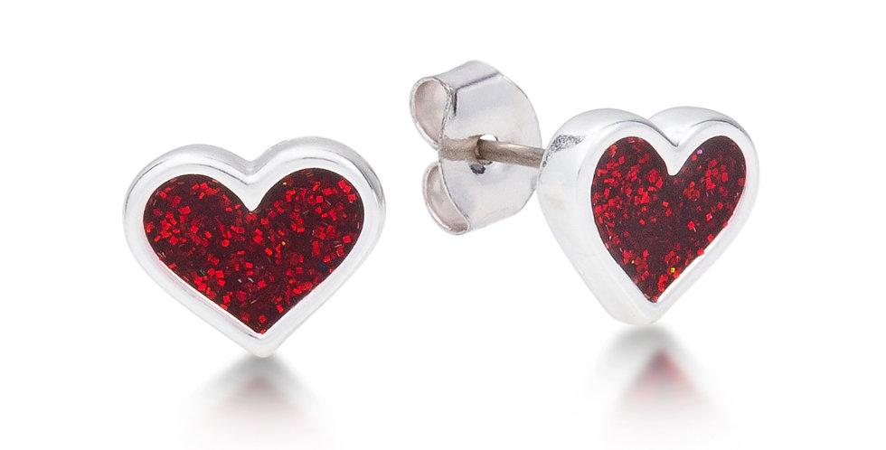 Disney Alice in Wonderland Heart Stud Earrings