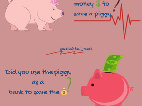 The Piglet that teaches us three little lessons....