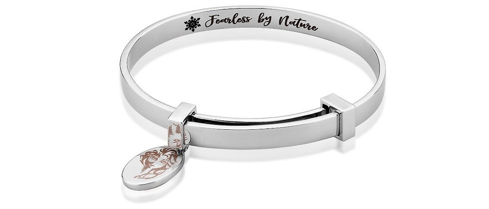 14ct white gold plated Disney Frozen 2 Elsa Adjustable Bangle