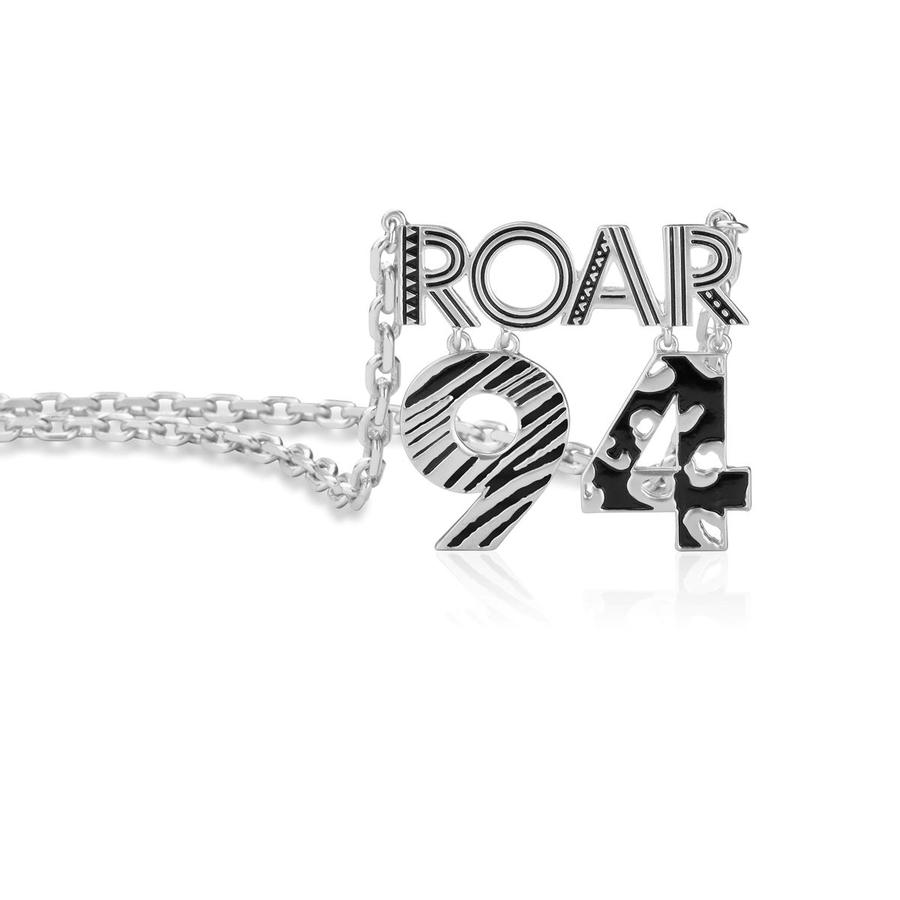 14ct white gold plated Disney The Lion King 'Roar 94' pendant necklace