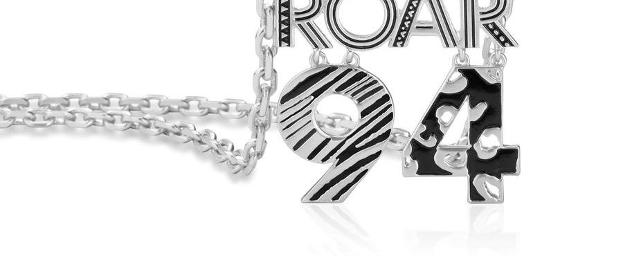 14 ct white gold plated Disney the lion king roar 94 necklace