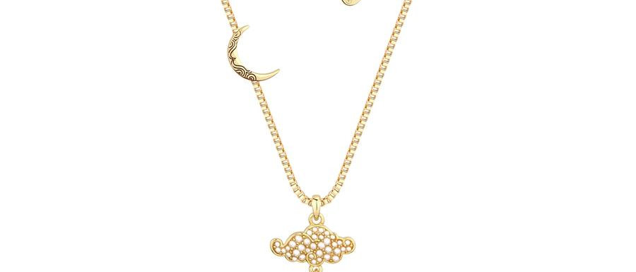 Yellow gold plated Aladdin Genie Lamp necklace
