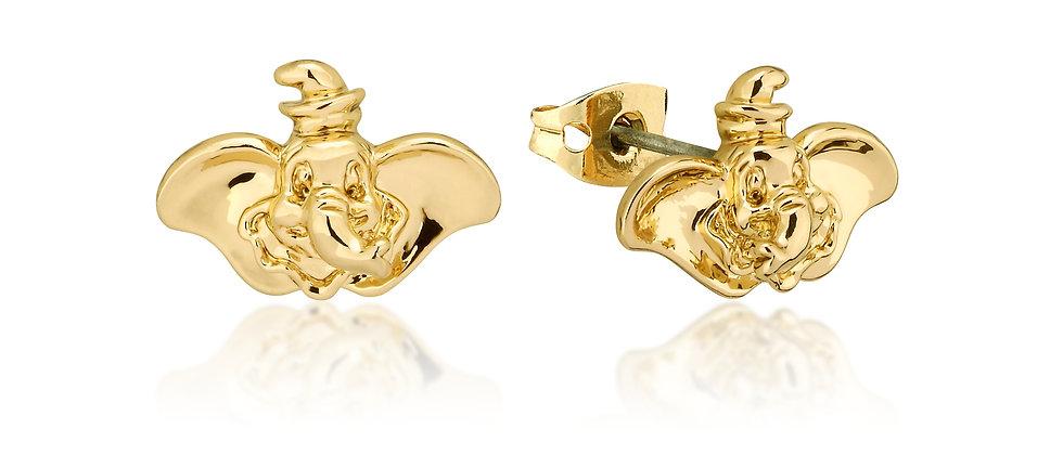 Disney Dumbo Gold Plated  Stud Earrings