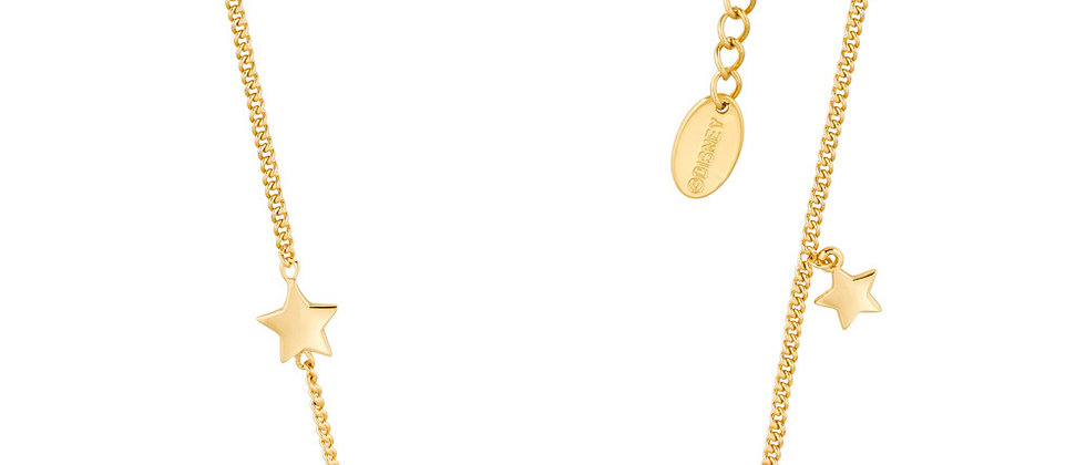 Yellow gold plated Disney Tinkerbell 'Believe' pendant necklace