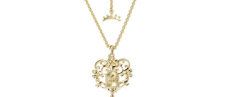 Disney Beauty and the Beast Key Necklace