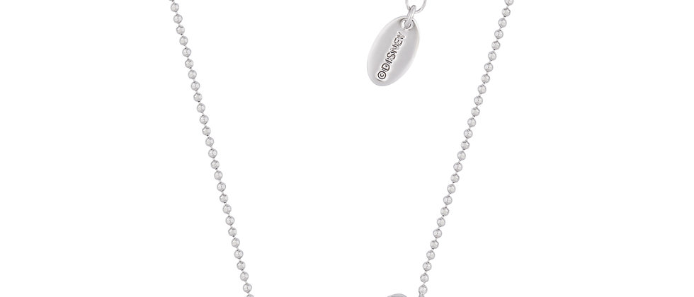 14 ct white gold plated Disney Minnie Mouse Bow Necklace