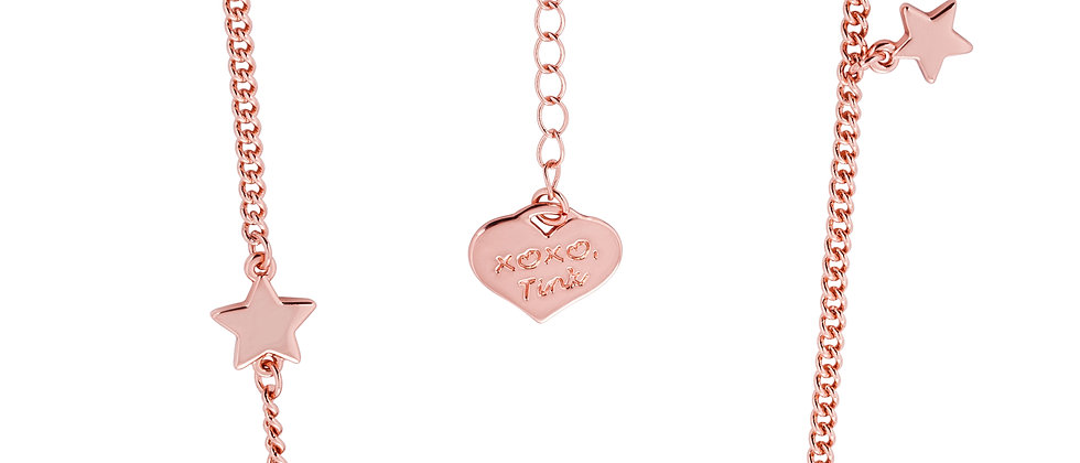 Rose gold plated Disney Tinkerbell 'Believe' Necklace