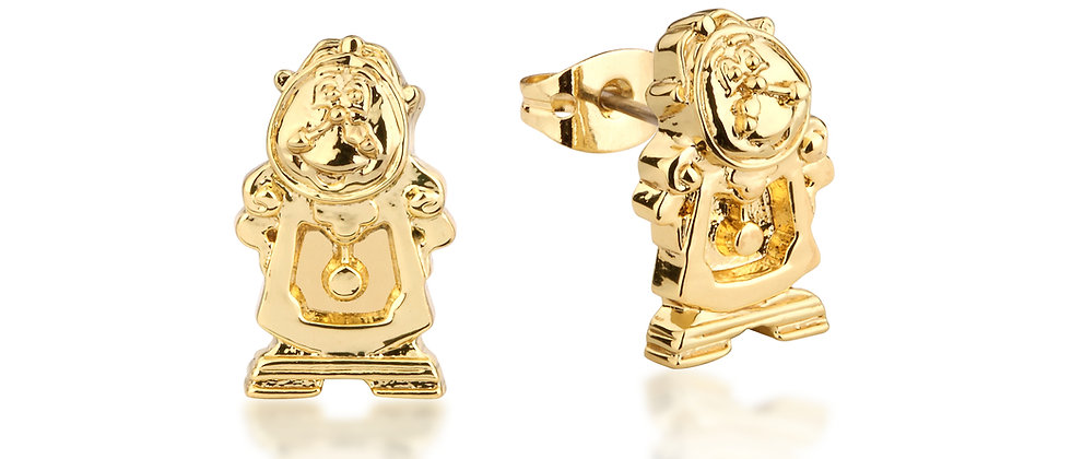 Beauty and the Beast Cogsworth Earrings