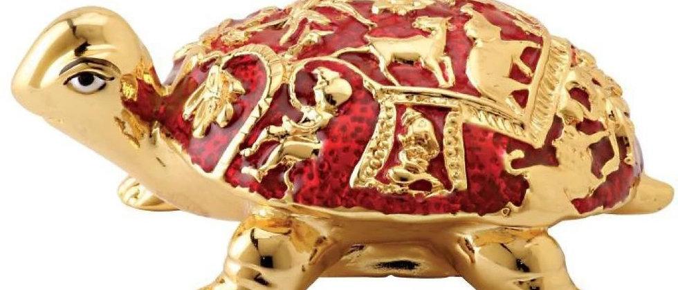 Gold Tortoise with Meenakari Medium