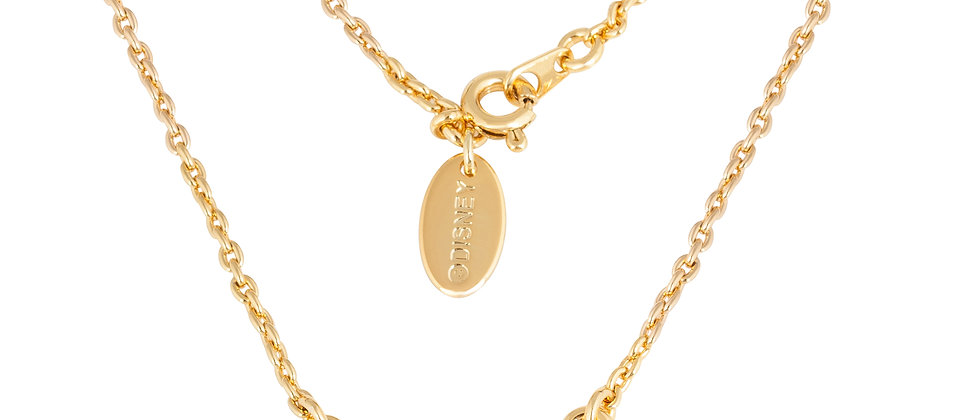 Disney Tinkerbell Silhouette Yellow gold plated necklace