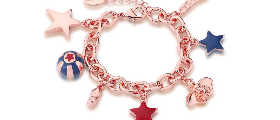 14ct rose gold plated Disney Dumbo Charms Bracelet