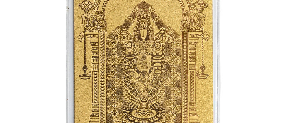 Balaji Postcard 24k Gold Foil
