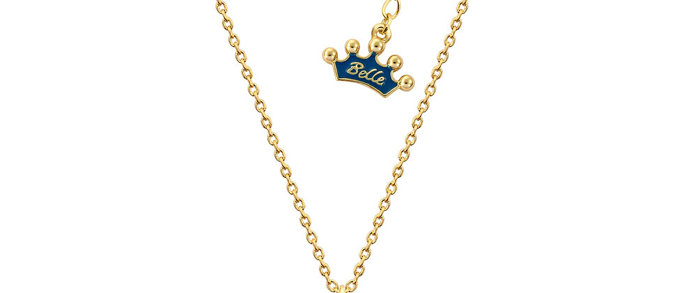 14ct gold plated Disney Beauty and the Beast Lumiere Necklace
