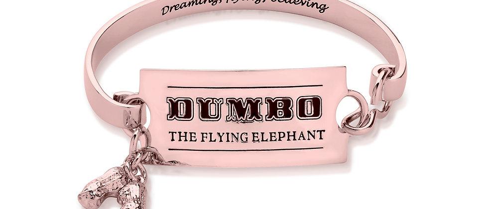 Disney Dumbo Flying Elephant Circus ticket bangle - Rose gold plated