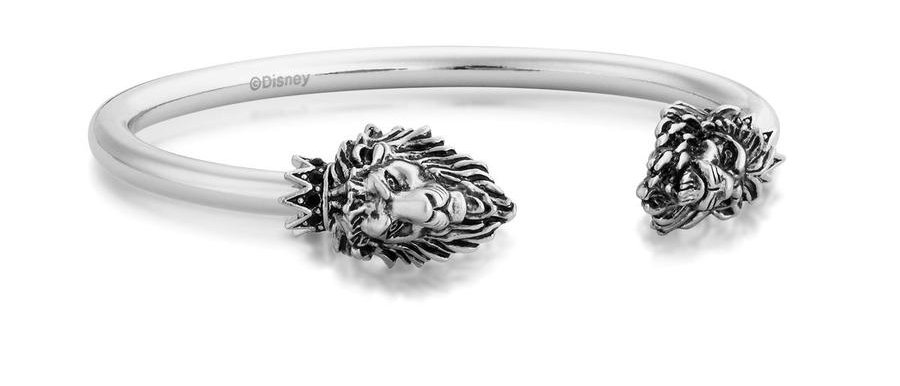 14ct white gold plated Disney The Lion King Simba vs Scar Bangle