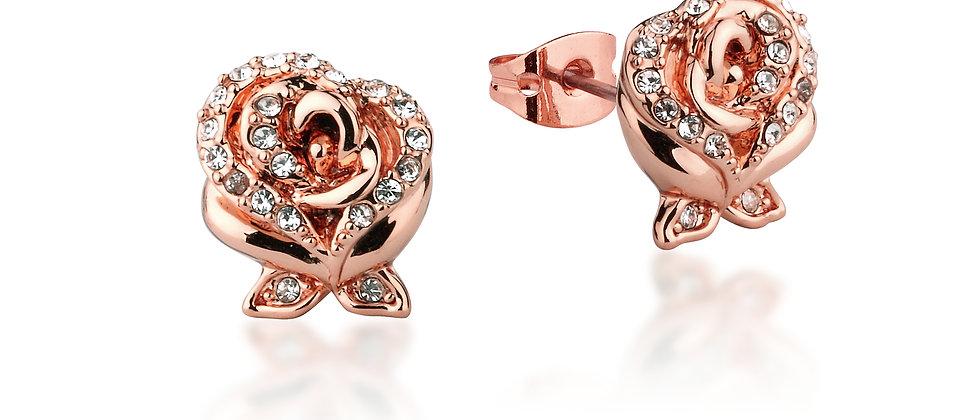 Disney Beauty and the Beast Enchanted Rose Stud Earrings