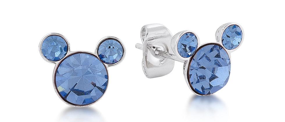 Disney Mickey December Birthstone Stud Earrings