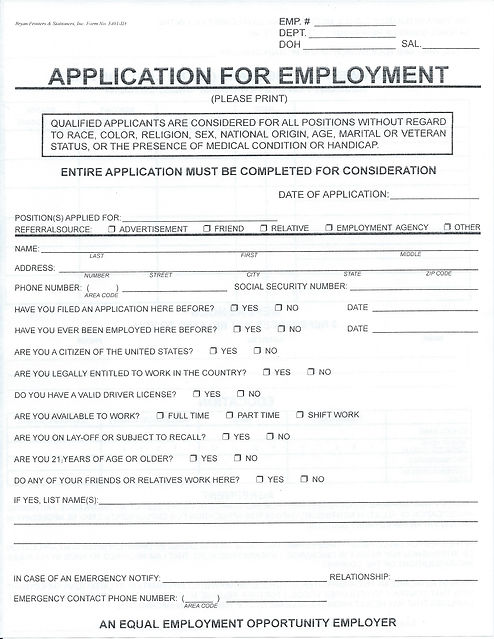 Claiborne's Thriftway Application