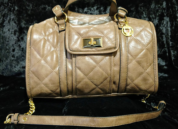 Taupe Quilted Satchel 100