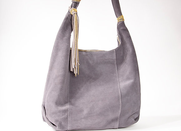 Gray Gold Accented Hobo