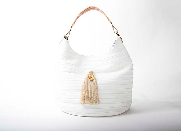 White Hobo w/silk tassel