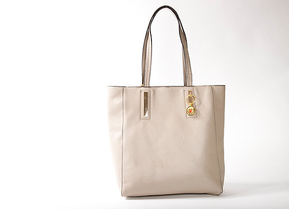 Taupe Classic Tote Satchel