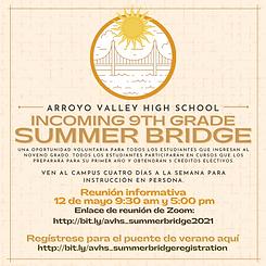 AVHS SUMMER BRIDGE FLYER SPANISH.png