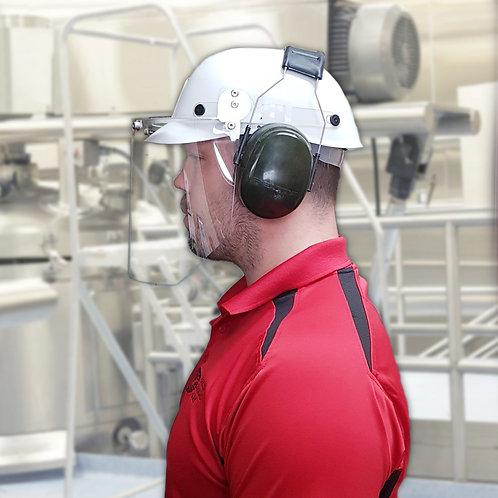 Ensemble casque anti-choc (Bump cap) et visière