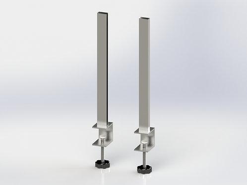 Ensemble de 2 supports en acier inoxydable pour plexi 1/4