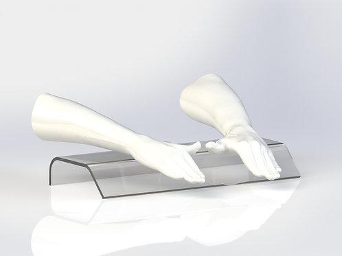 Repose main en acrylique