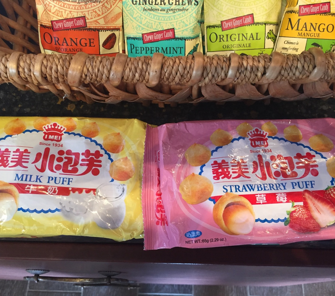 Fruit flavors and something called Milk Puff.