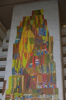 This original Mary Blair mosaic graces the lobby of The Contemporary Resort.
