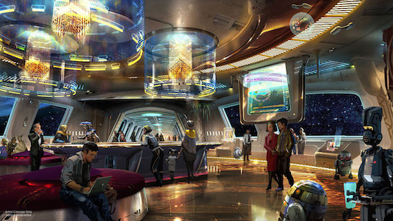 Star Wars land artist rendering