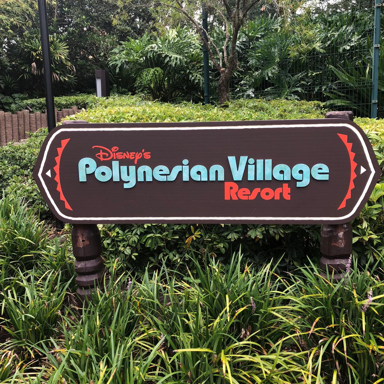 Disney's Polynesian Village Resort sign
