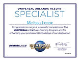 Melissa-Lenox-Universal Orlando Training